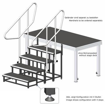 modulare treppe b hnentreppe treppenstufen anstelltreppe b hnenstufen ebay. Black Bedroom Furniture Sets. Home Design Ideas